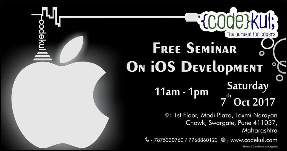 Free iOS App Development Seminar at Codekul