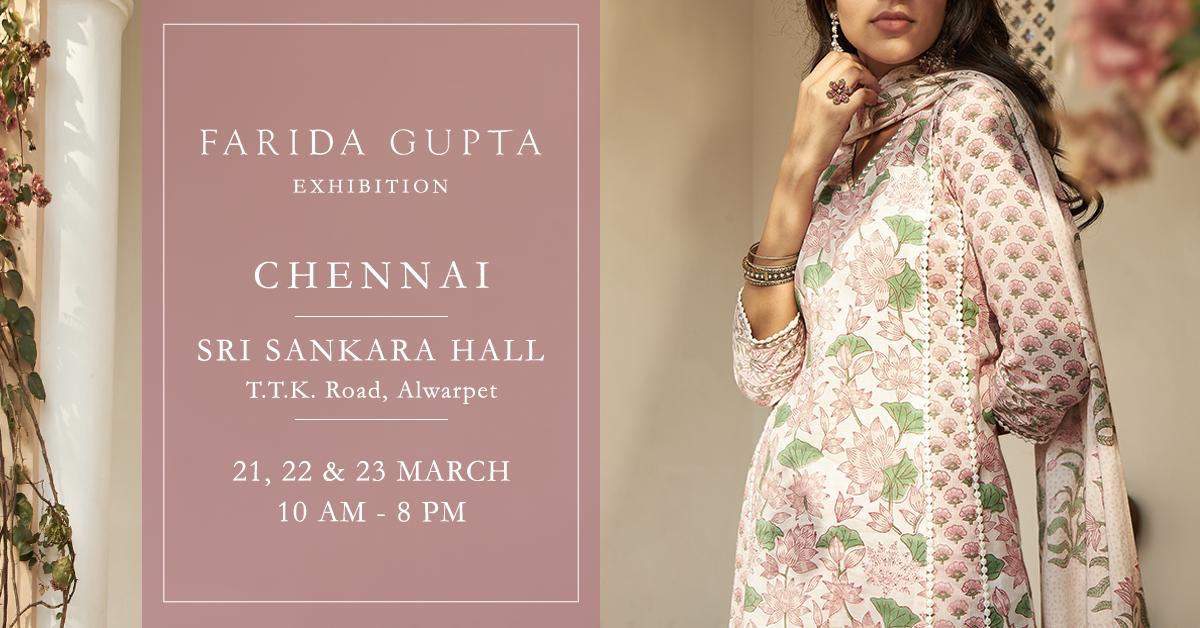 Farida Gupta Chennai Exhibition