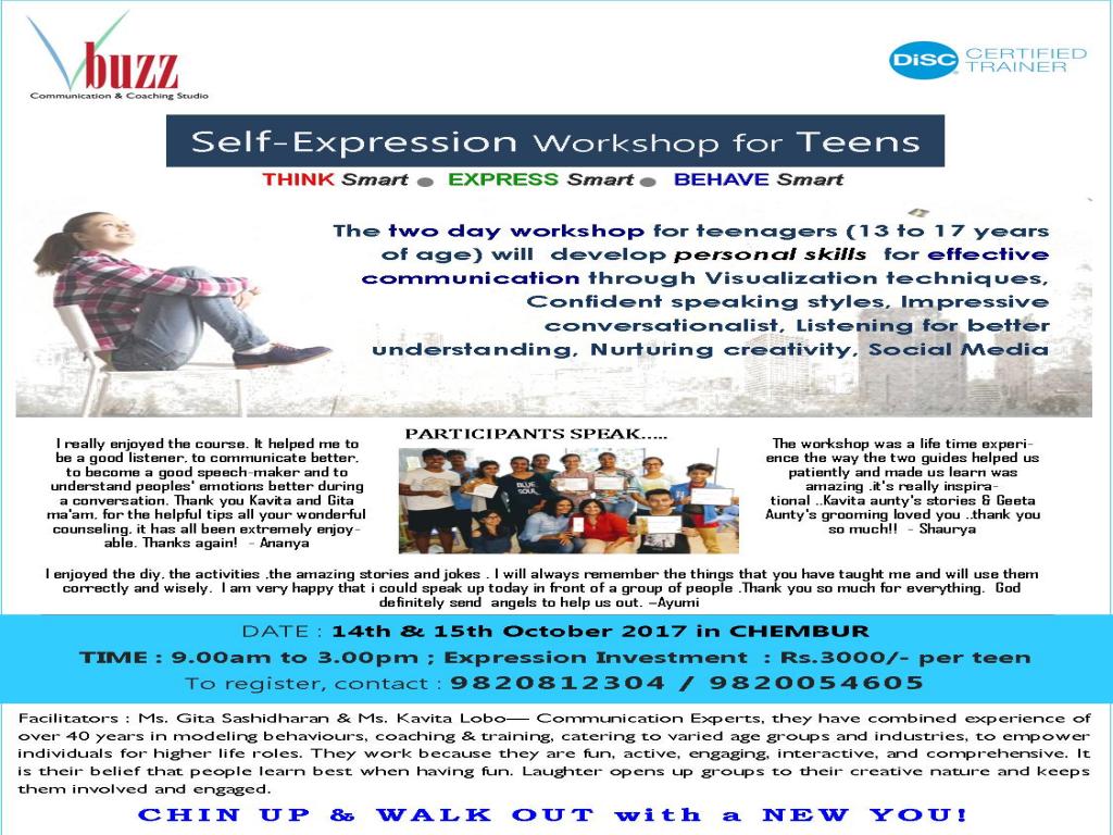 Self Expression  Workshop for Teens