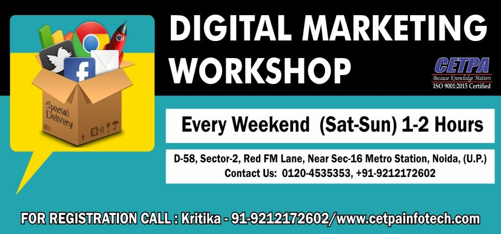 Free Digital Marketing Workshop in Noida  -  Cetpa Infotech