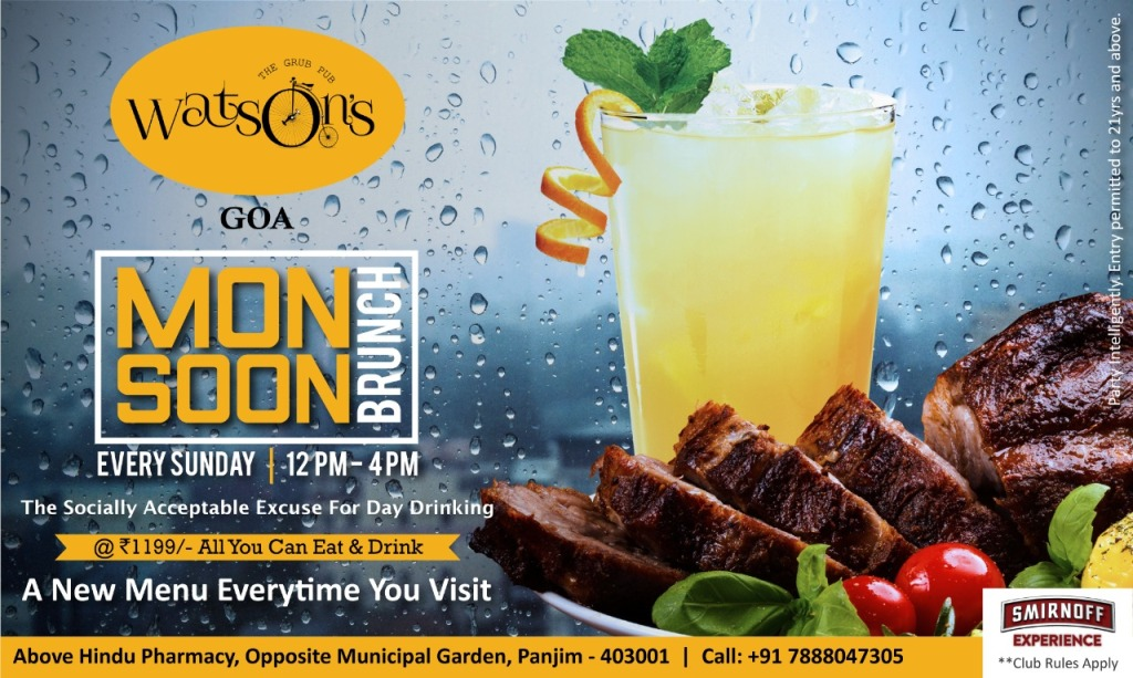 Monsoon brunch at Watson's