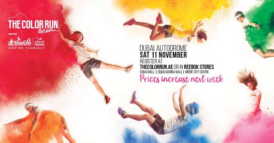 The Color Run Dubai 2017 presented by Daman's Activelife