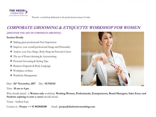 CORPORATE GROOMING AND ETIQUETTE WORKSHOP - WOMEN