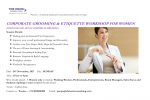 CORPORATE GROOMING AND ETIQUETTE WORKSHOP - WOMEN