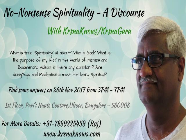 No-Nonsense Spirituality: A Discourse