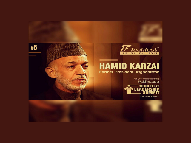 Keynote by Mr. Hamid Karzai | Leadership summit | Techfest, IIT Bombay
