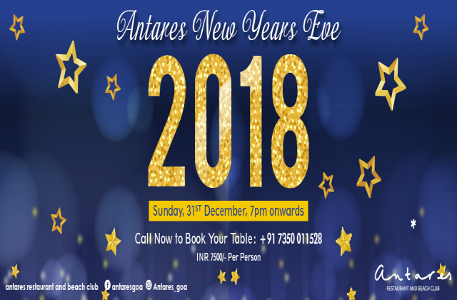 NEW YEAR'S EVE 2018@Antares Goa