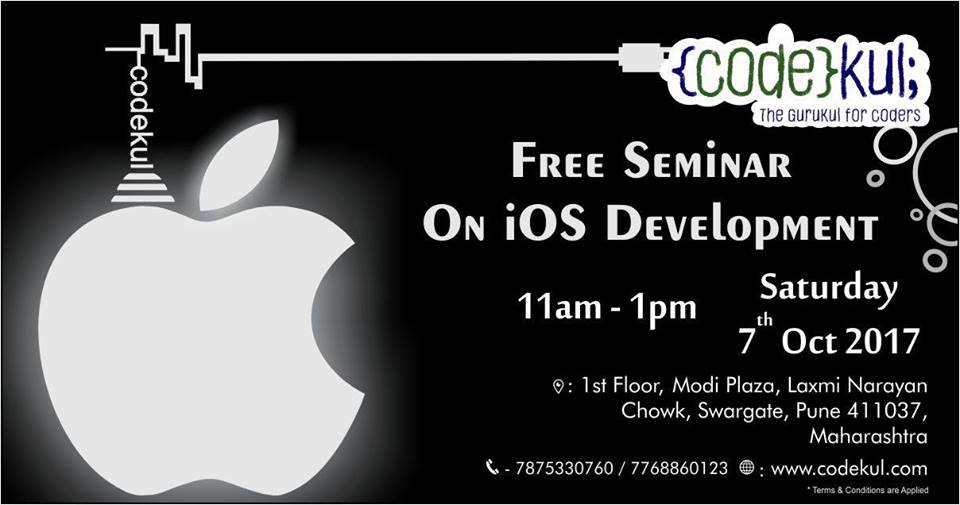 Free iOS App Development Seminar at Codekul