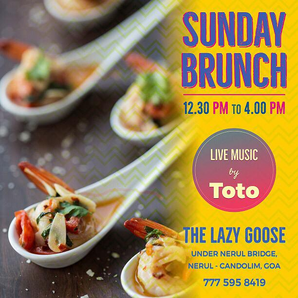 Sunday Brunch at The Lazy Goose 14th January