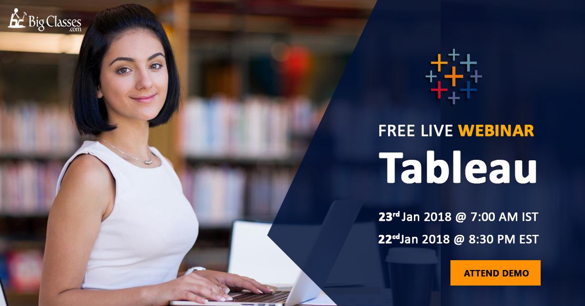 Learn Tableau Desktop and become a Certified Business Intelligence Professional -  Free Tableau Training DEMO