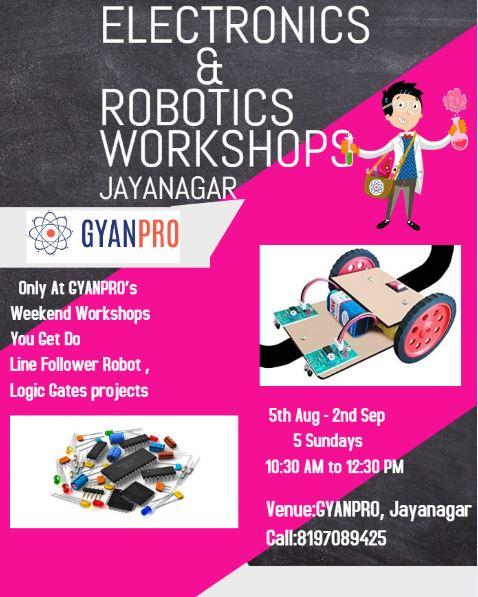 Unique Electronics and Robotics Workshops JAYANAGAR