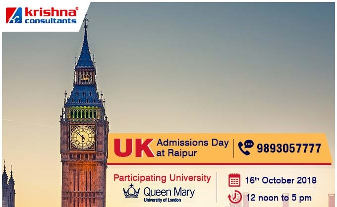 UK Admissions Day at Krishna Consultants Raipur