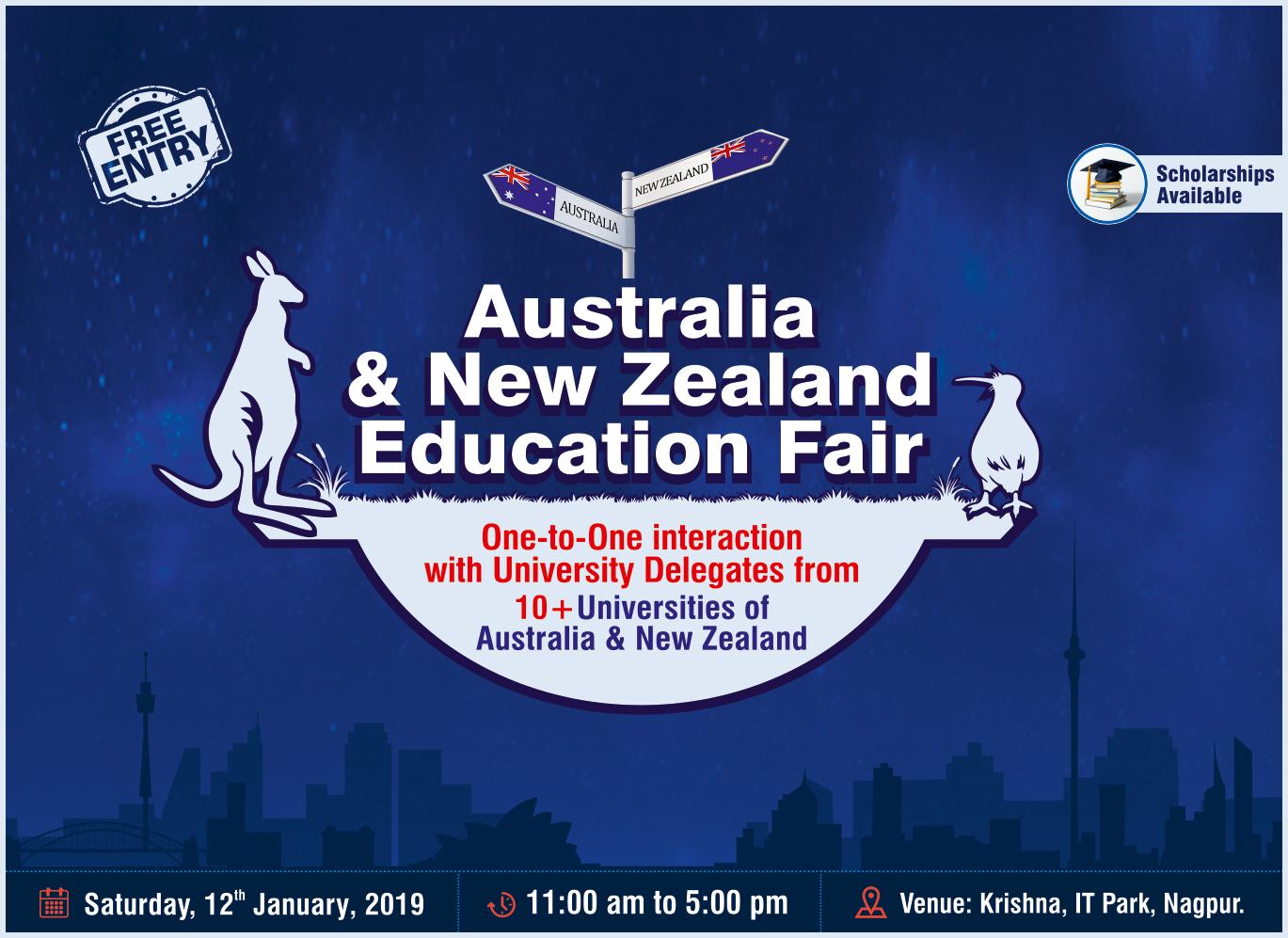Australia New Zealand Education Fair - 12th January 2019
