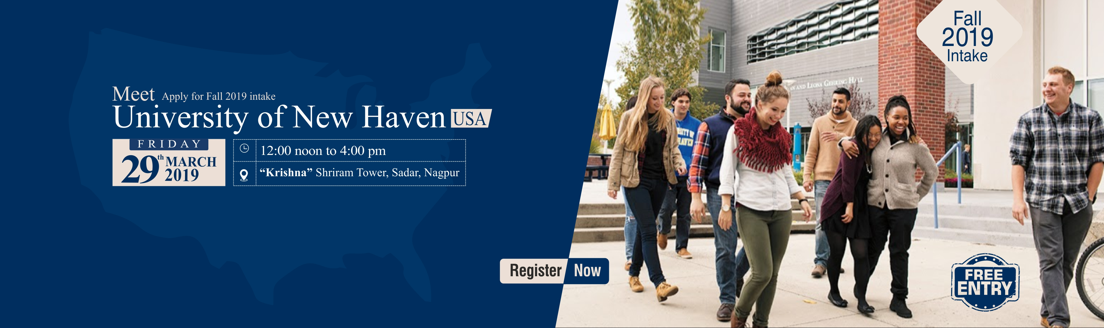 Meet Delegate of University of New Haven, USA - 29th March 2019 | Free Entry!!!