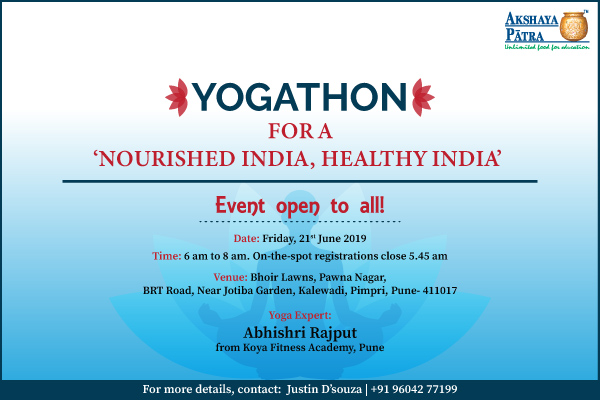 Akshaya Patra is Organizing Yogathon event in Pune