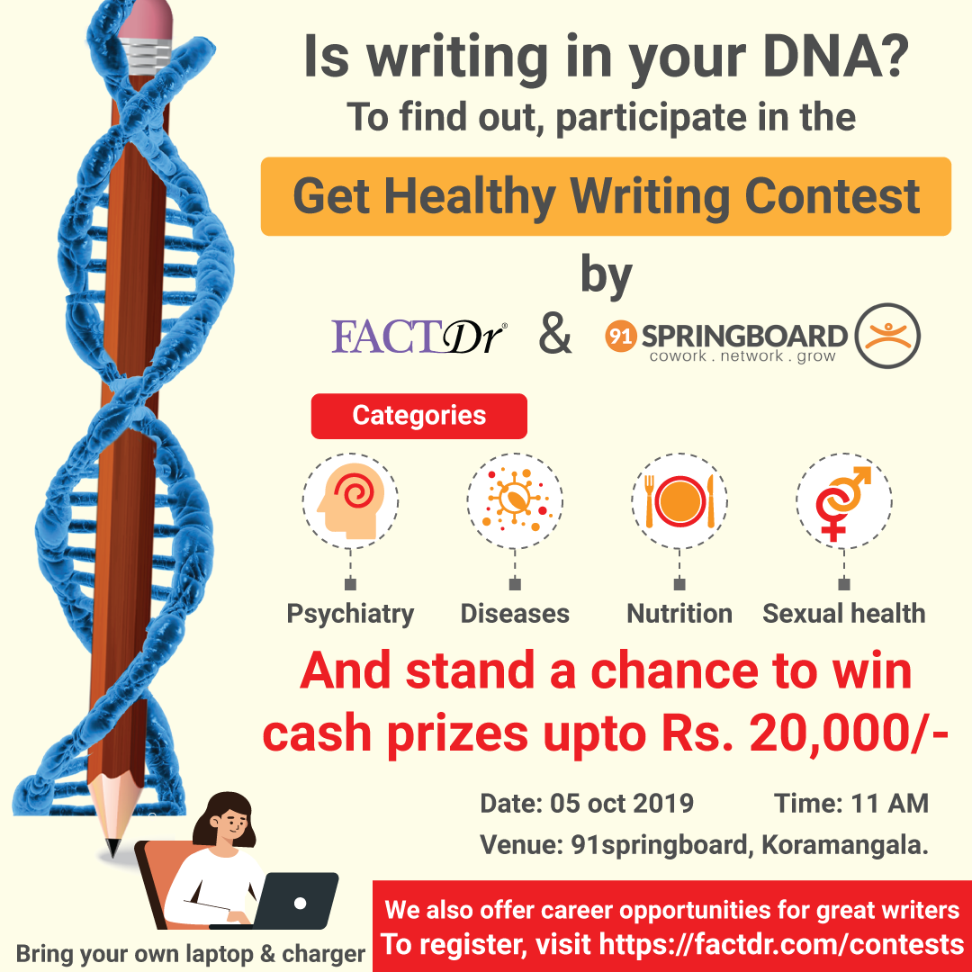 Get Healthy Writing Contest By FactDr