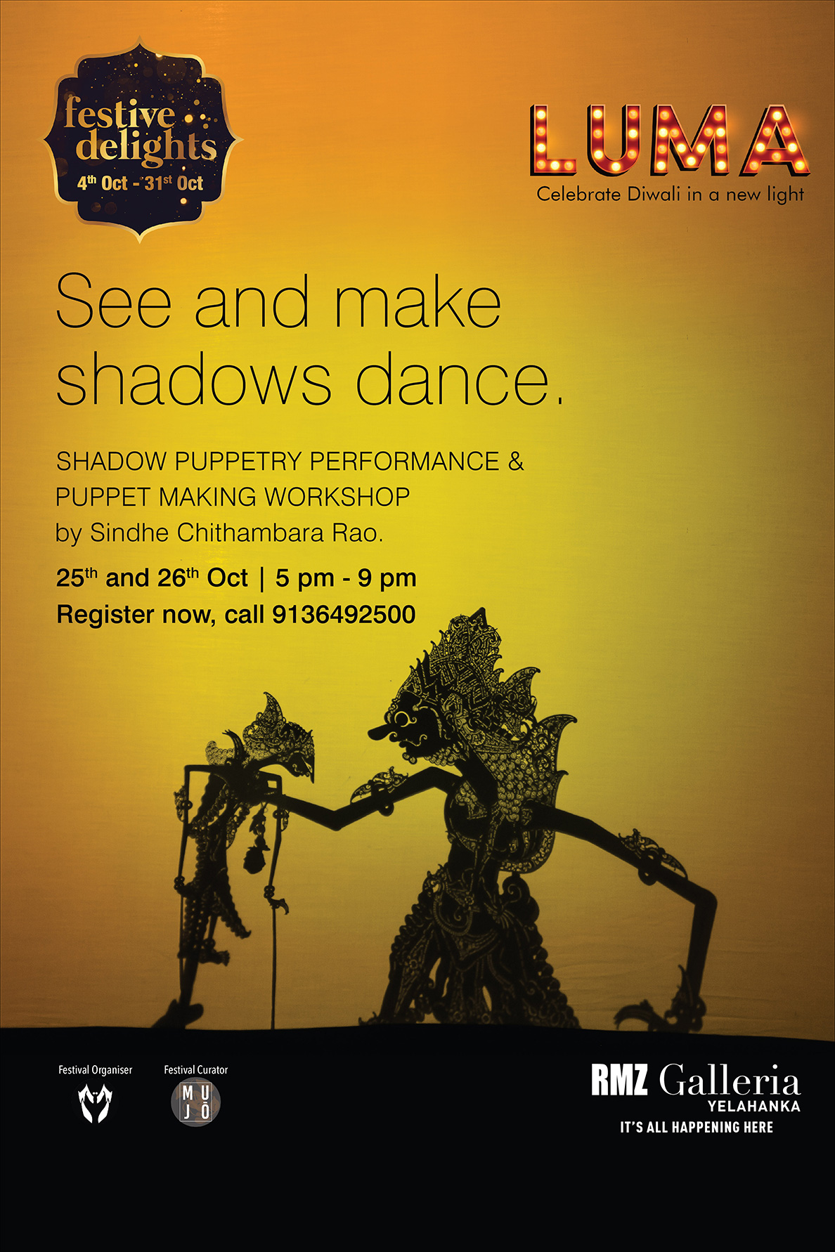 Shadow Puppetry : Performance and Workshop by Sindhe Chithambara Rao