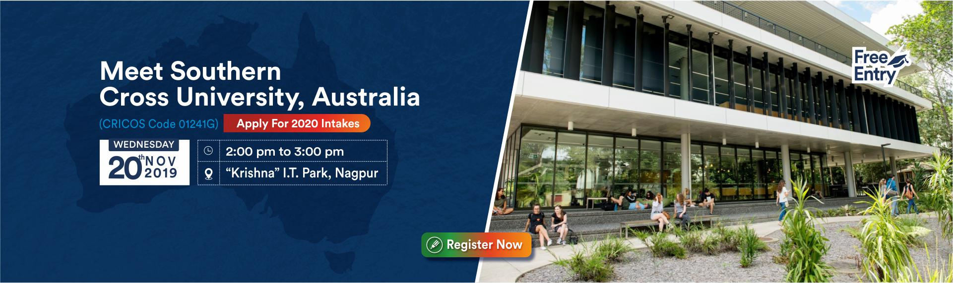 Meet & Apply to Southern Cross University, Australia on 20th Nov 19 - KC Nagpur