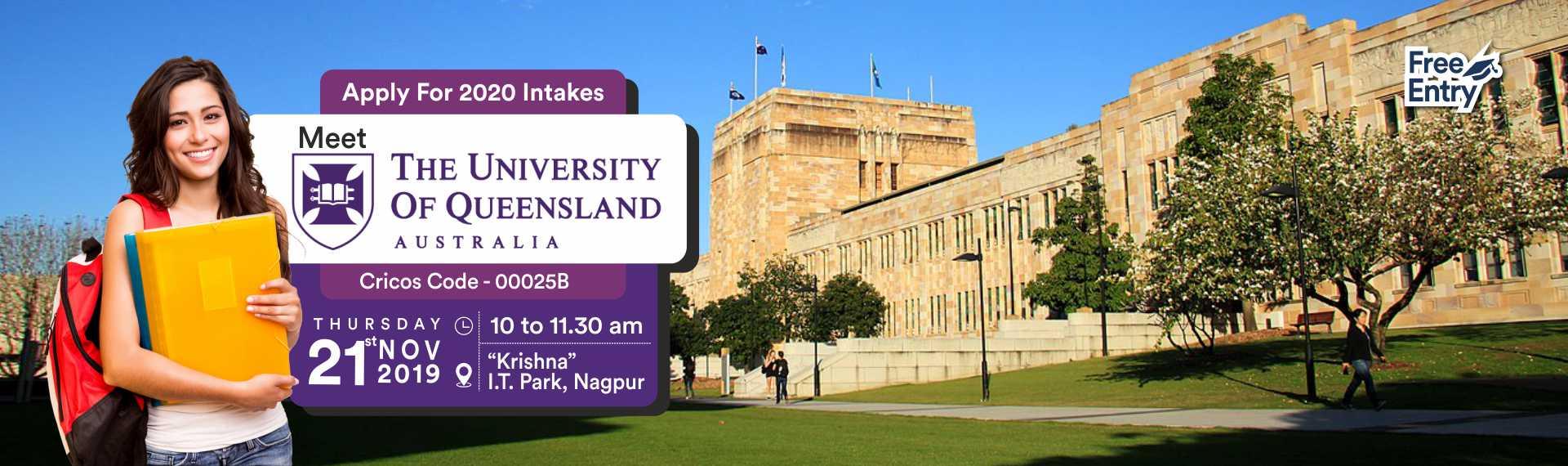 Meet & Apply to The University of Queensland, Australia - 21st Nov 19