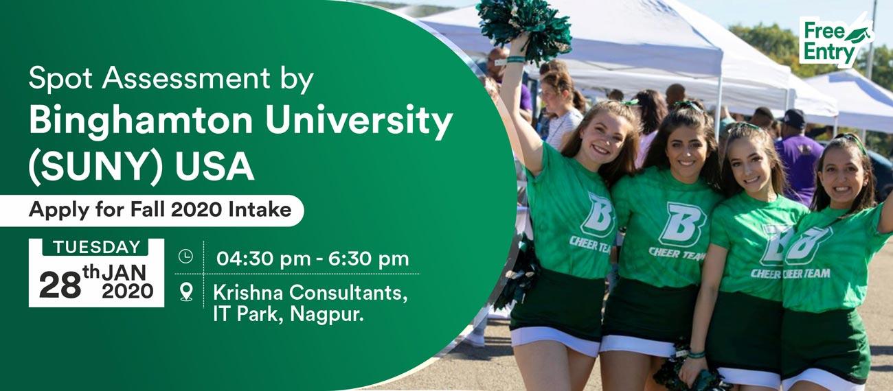 Meet & Apply to Binghamton University, USA on 28th Jan 2020 at KC Nagpur