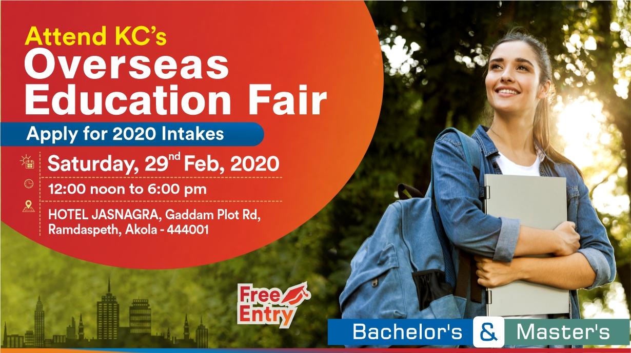 Attend Overseas Education Fair in Akola on Saturday 29th Feb 2020