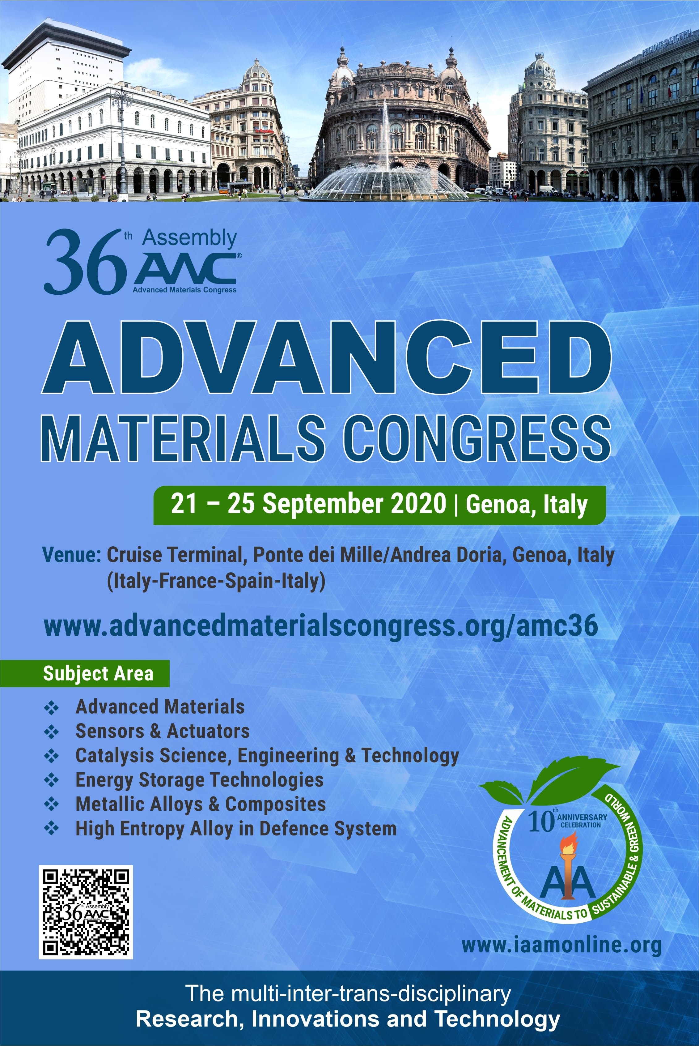36th Assembly of Advanced Materials Congress 2020
