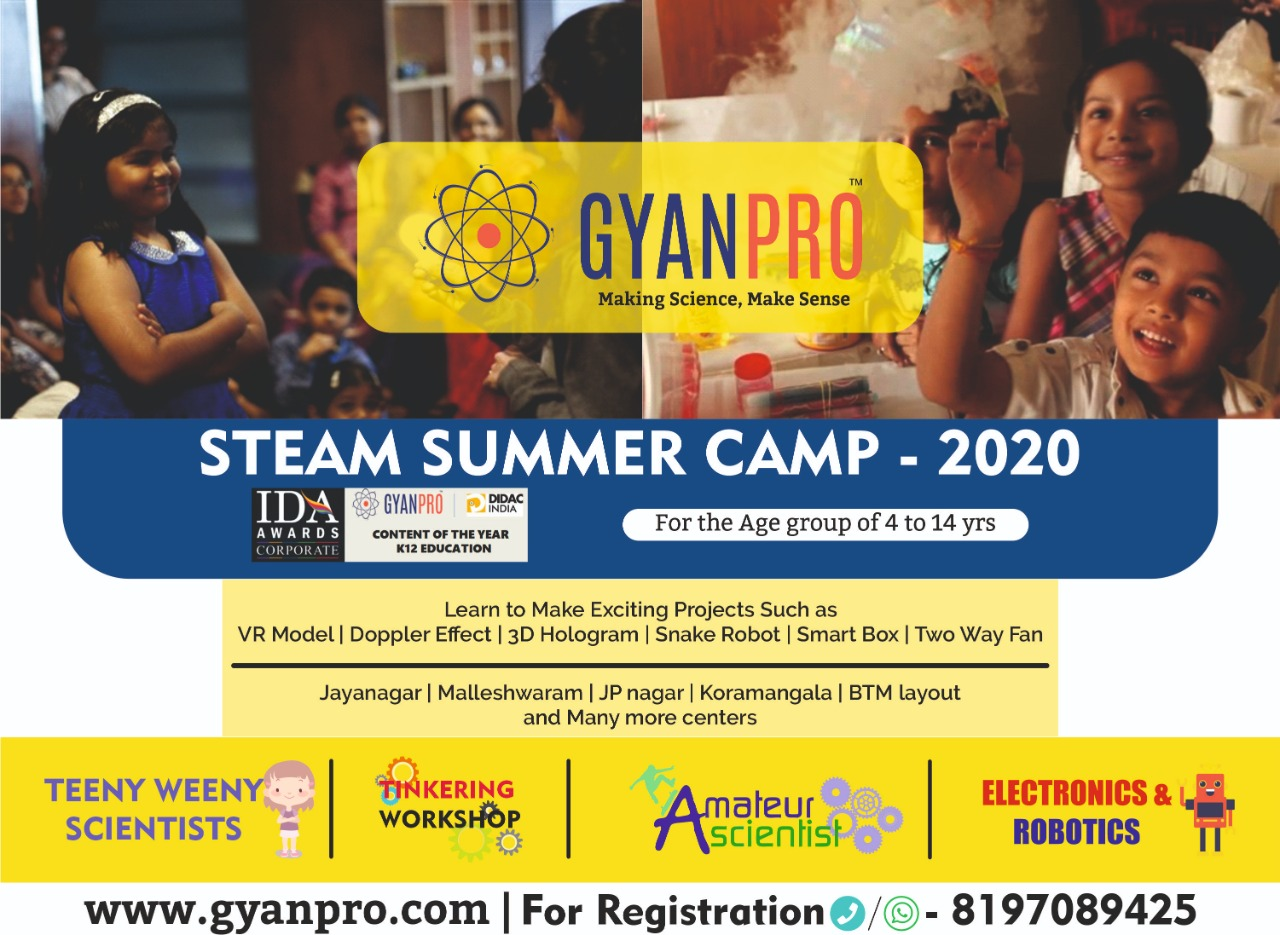 GyanPro STEAM Summer Camp 2020  Jayanagar