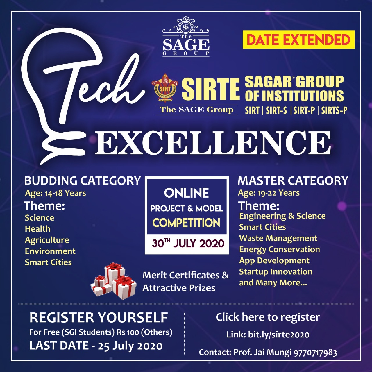 Tech-Excellence 2020 - Online Project & Model Competition