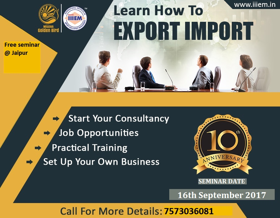 Free seminar on Import and Export Management