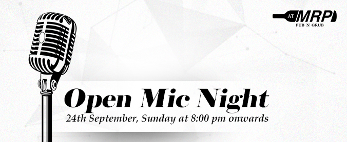 We are LIVE and kicking it with Open Mic Sundays!