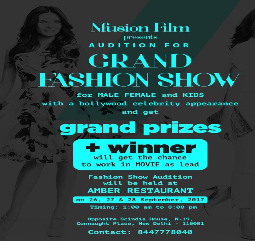 Grand Fashion Show for Male, Female and Kids in Delhi