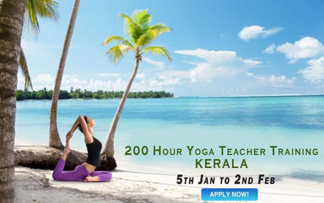For the transformative journey flew to South India for 200 Hours Yoga & Ayurveda