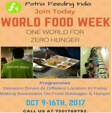 Join WORLD FOOD WEEK By Patna Feeding India