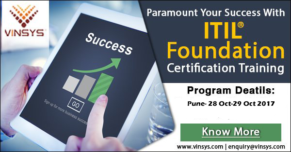 ITIL Foundation Certification Training in Pune, Vinsys