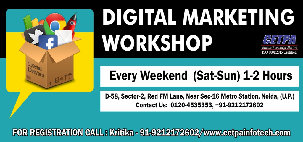 Free Digital Marketing Workshop in Noida  -  Cetpa Infotech