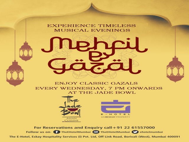 MEHFIL-E-GAZAL AT THE E-HOTEL