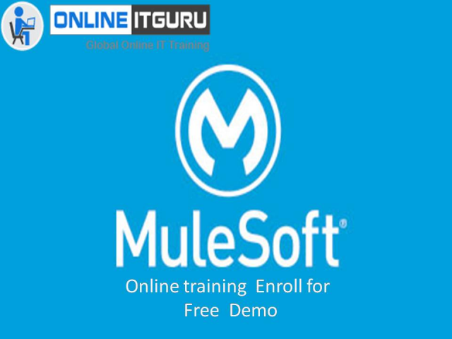 Turn your career with Mulesoft Online course Hyderabad