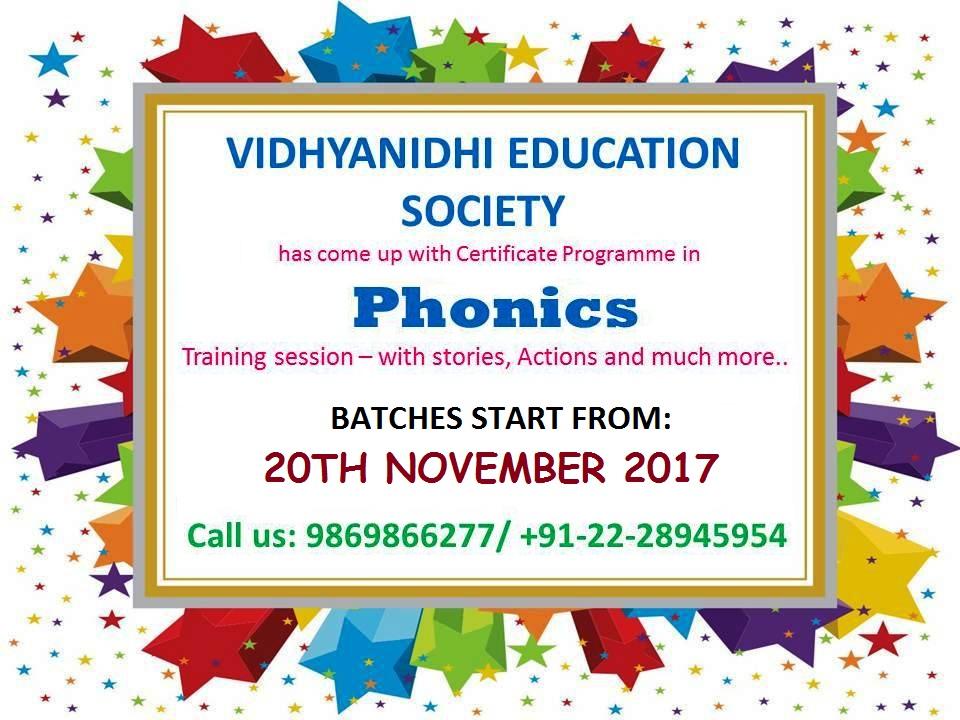 Phonics Teacher Training Certificate Programme