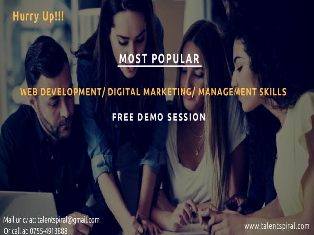 Free Demo WebDevelopment/ DigitalMarketing/HRmanagement