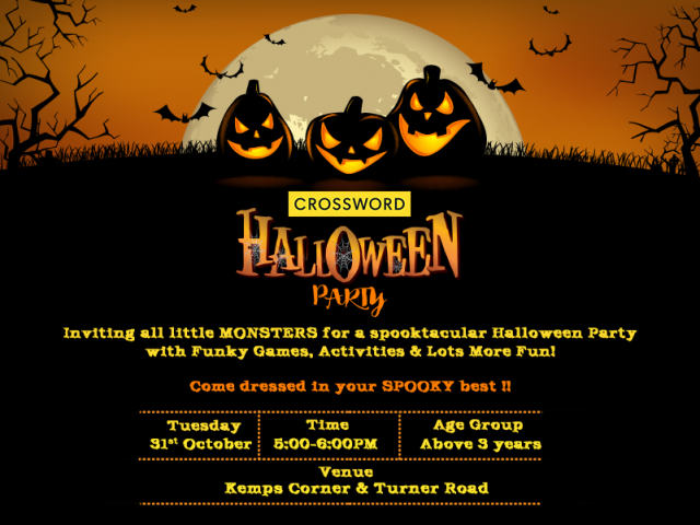 Crossword Bookstores celebrates 'Halloween day