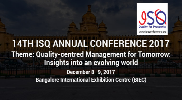 14th ISQ Annual Quality Conference 2017