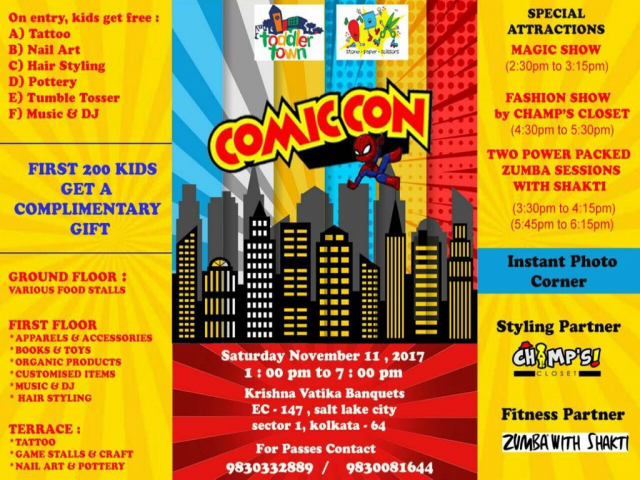 Toddler Town and Stone Paper Scissor hosts Comic Con for Children!!