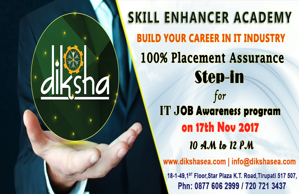 Free IT Job Awareness Program @Diksha  Skill Enhancer  Academy
