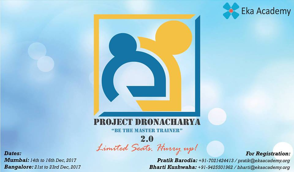 PROJECT DRONACHARYA - TRAIN THE TRAINER