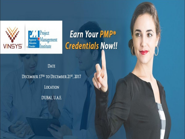 PMP Certification Training in Dubai at Vinsys