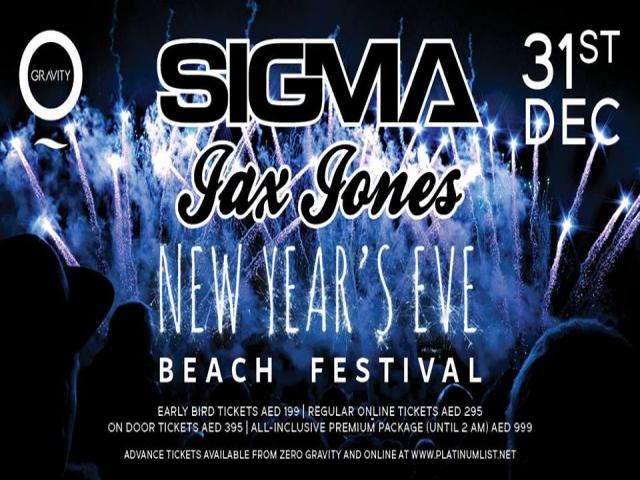 Zero Gravity NYE Beach Festival with Sigma & Jax Jones