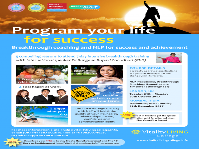 Breakthrough Coaching with NLP (Neuro-linguistic programming) Practitioner, Hypn