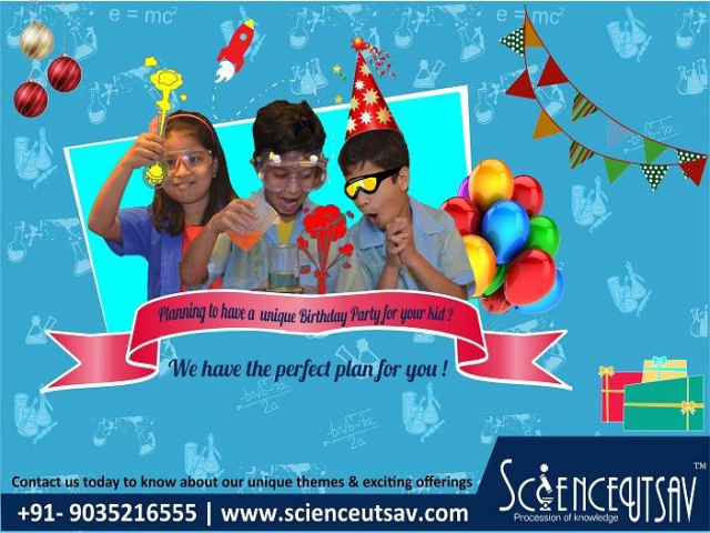 Science themed birthday birthday party