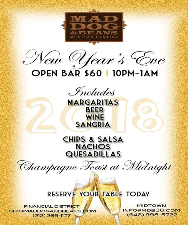New Year's Eve Open Bar
