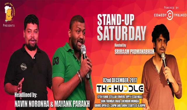 Stand-up Saturday Ft. Mayank, Navin and Sriraam